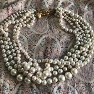 J Crew pearl twisted Hammock necklace